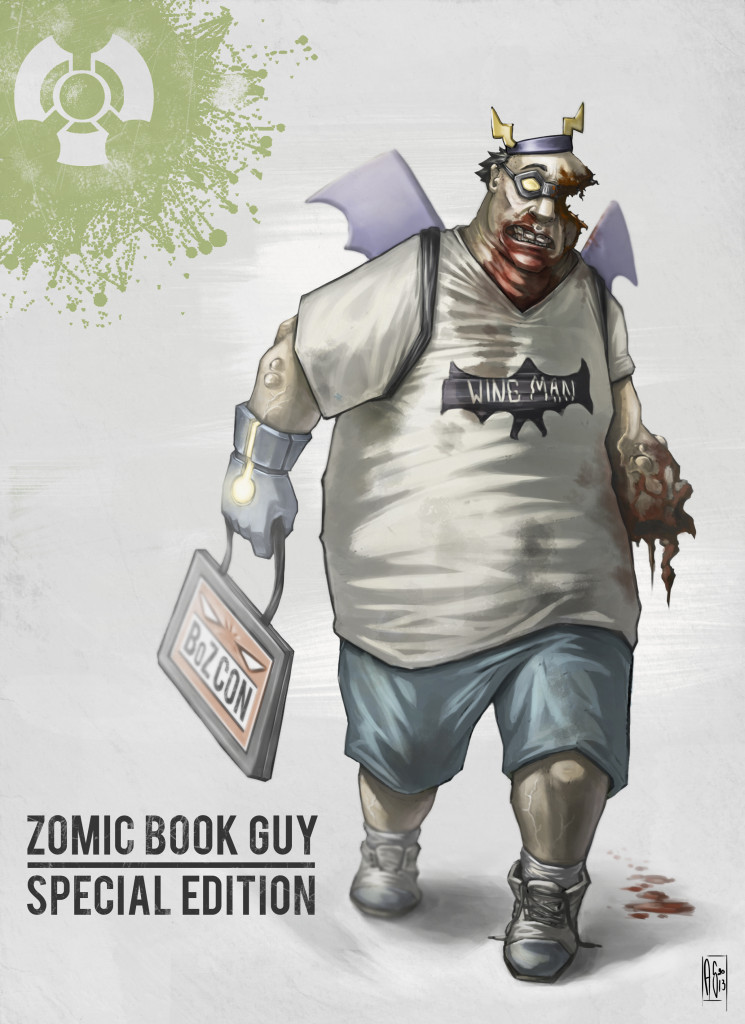 zomicbook guy  concept art for con exclusive figure at c2e2