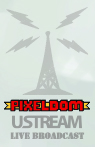 pixeldom live ustream broadcast tower logo