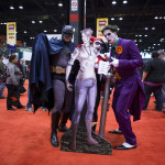 batman and joker with dr chen at box o zombies booth