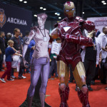 iron man cosplay at c2e2 2013 with glowing arc reactor at box o zombies booth