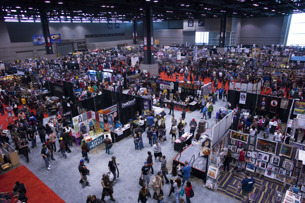 c2e2 arial shot of show floor at mccormick place west building 2013 april the blog