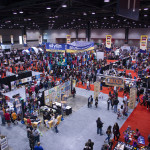 c2e2 arial shot of show floor at mccormick place west building 2013 april