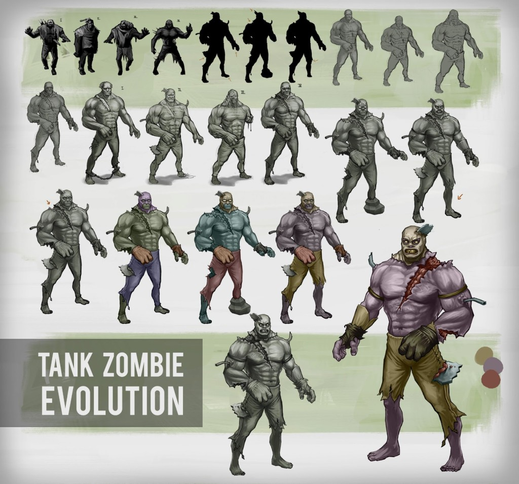 Tank zombie Evolved concept art character boz box o zombies