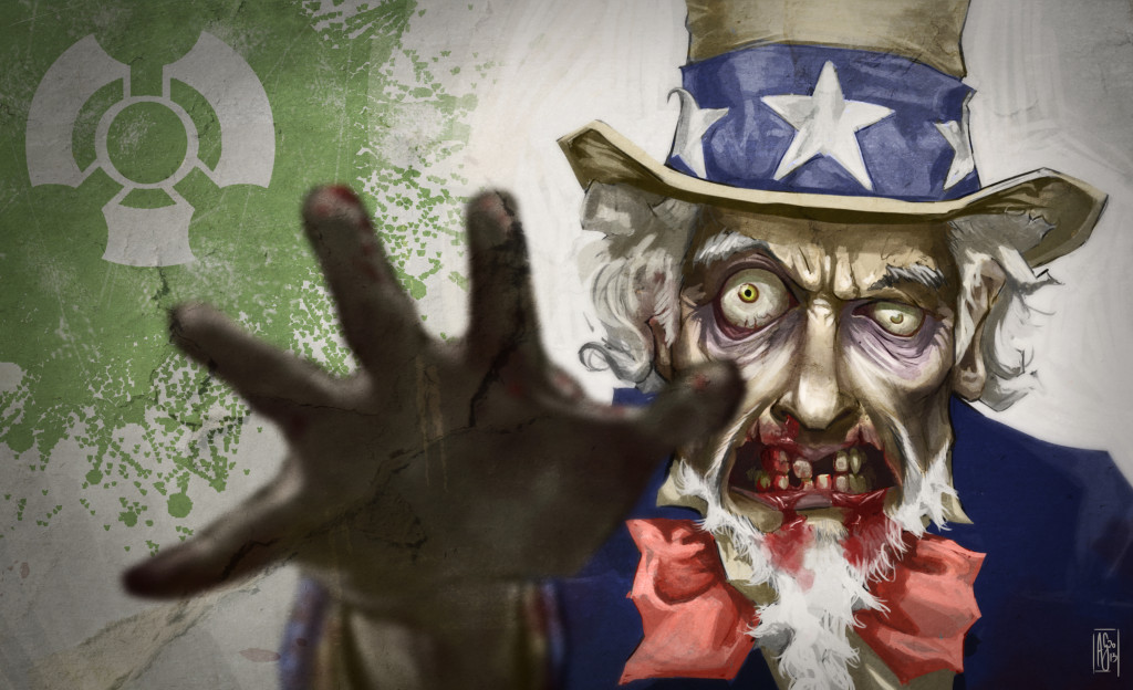 Uncle Sam as a Zombie for Box O Zombies game