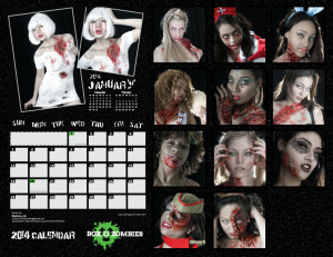 Box O Zombies 2014 Pinup Calendar - Back