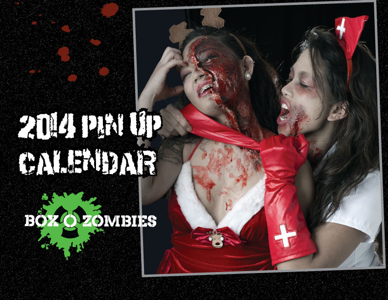 Box O Zombies 2014 Pinup Girl Calendar